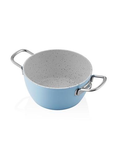 The Mia La Mia Cucina 20 Cm Derin Tencere - Mavi Renkli